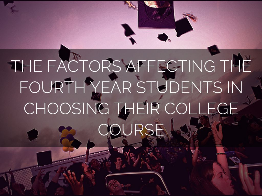 factors affecting career choice among students