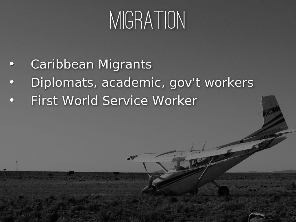 migration from caribbean Migration in the caribbean: a path to development (english) abstract between 1989 and 2001, over 14 million caribbean nationals migrated legally to the united states.