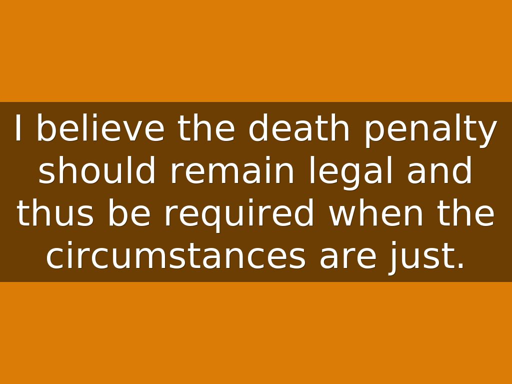 death penalty should be legal
