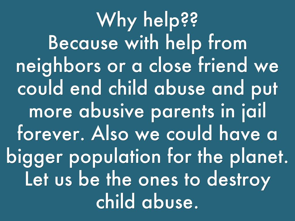 ⛔ child abuse facts