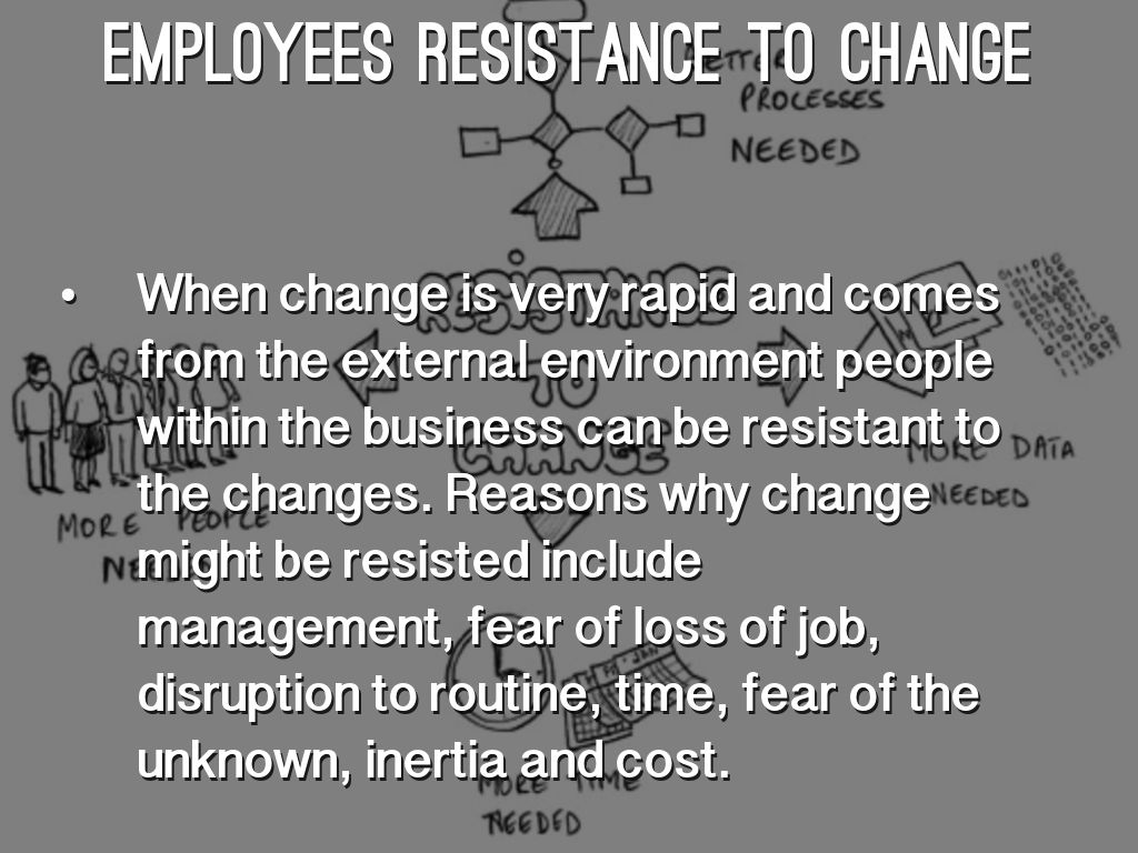 kodak employees resist change Top ten reasons people resist change in it was still at or near the top google search rankings for resistance to change those who resist are not.