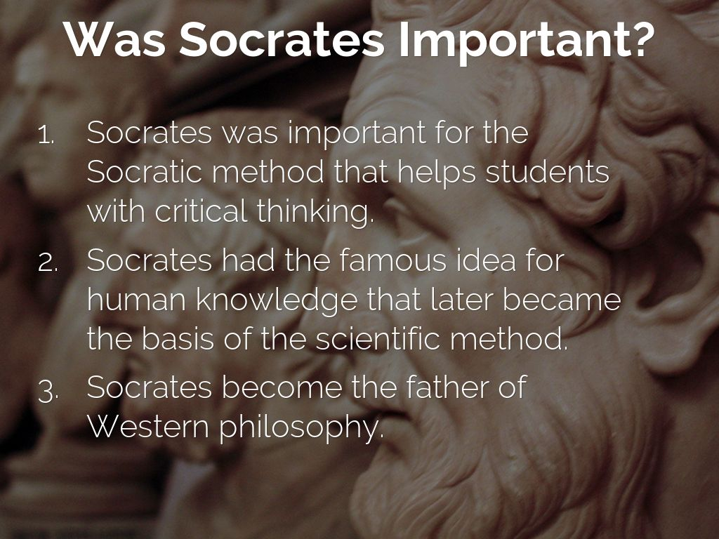 Socrates father of critical thinking