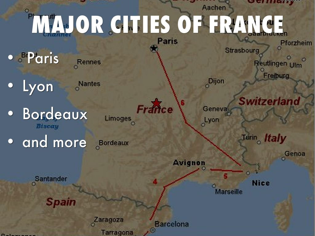 FrancePrewitt By - Major cities in france