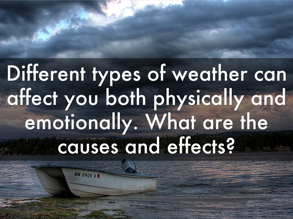 effect of weather on mood Cold weather brings a number of health risks for older adults how does cold weather affect your health image: thinkstock published: november, 2014 exercise to boost mood feeling depressed.