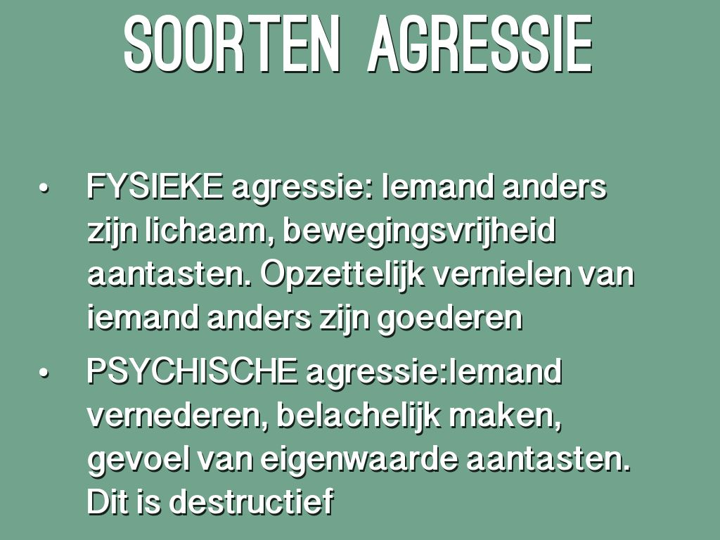 Agressie By Alexandra Cloostermans
