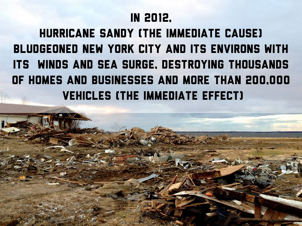 cause and effects of hurricane sandy