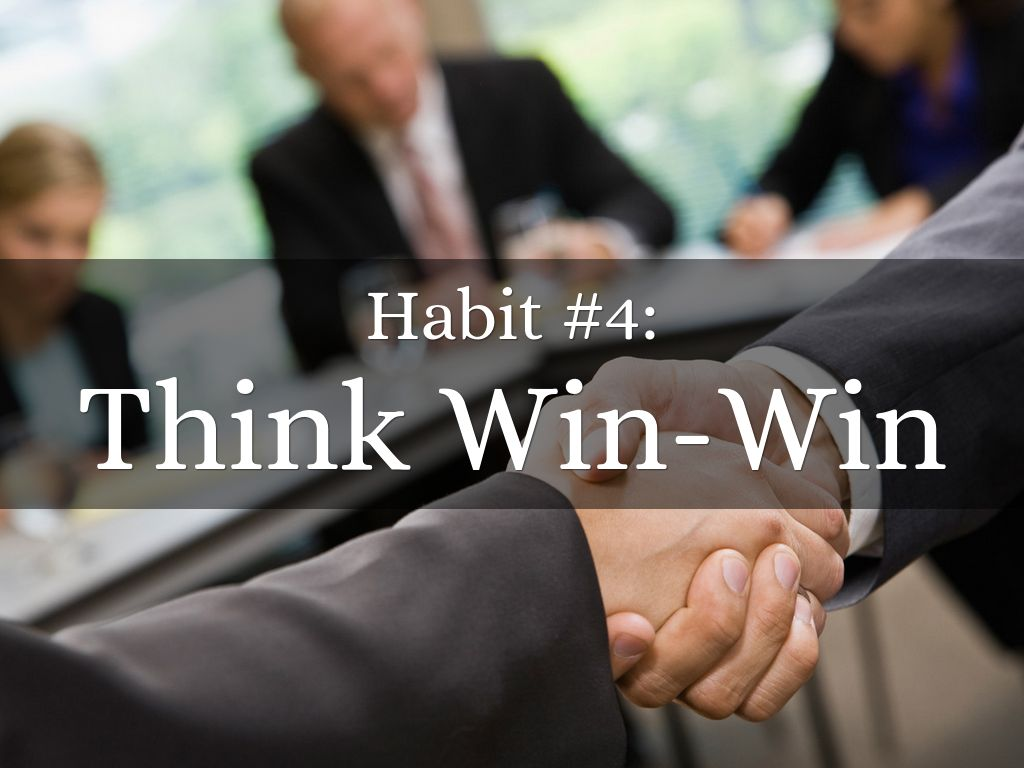 covey think win win Does your organization think win/win in most organizations their employee reward systems are hurting sales, fulfillment, profit, employee satisfaction and their brand reputation because.