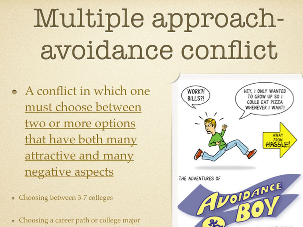 approach conflict example