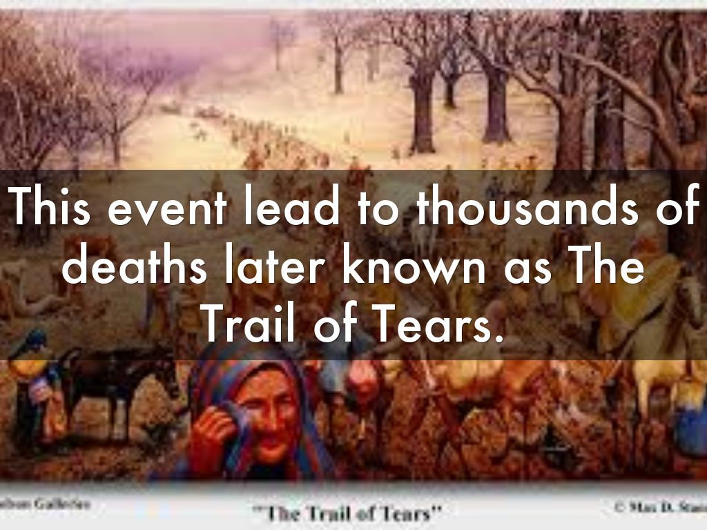 The trail of tears dee brown thesis