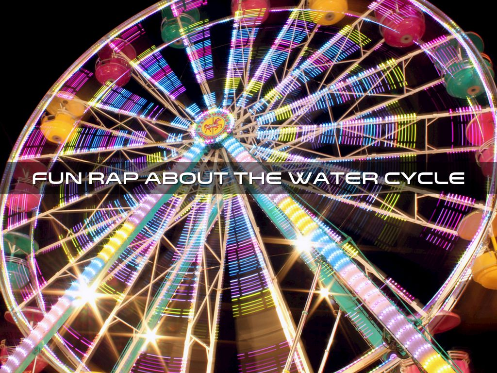 Fun Rap About The Water Cycle