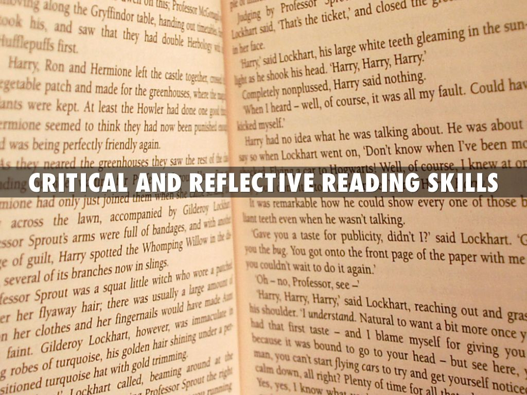 critical reflection on readings