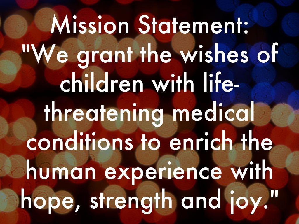 make a wish mission statement