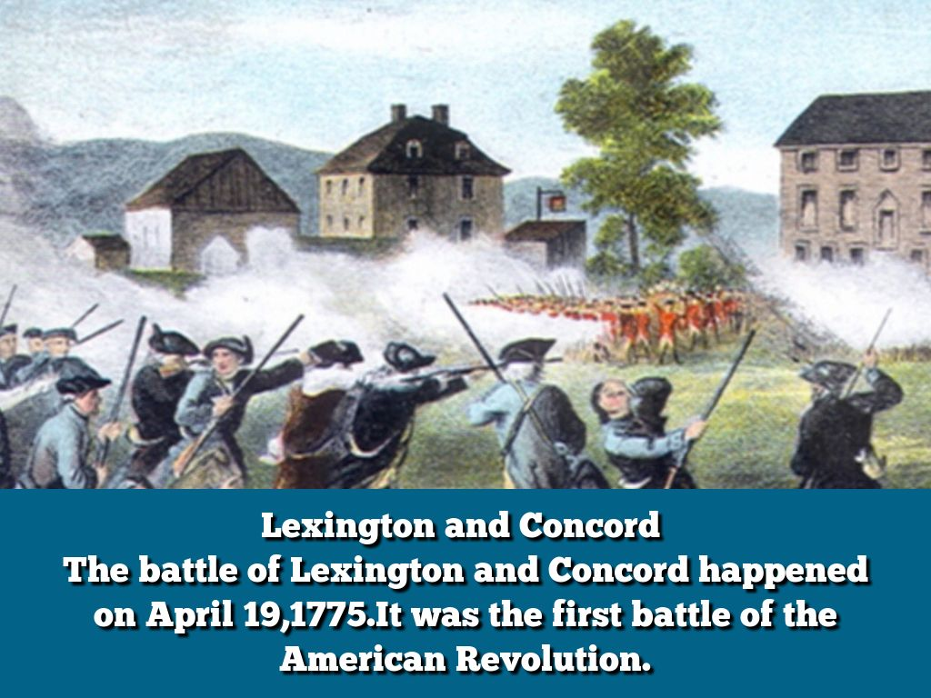 battle of lexington and concord essay General thomas gage wanted his men to ruin all of the americans supplies and guns that were placed in concord he also wanted john hancock and samuel adams to be.