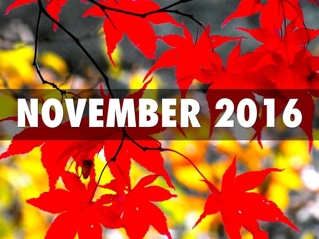 November 2016 Events