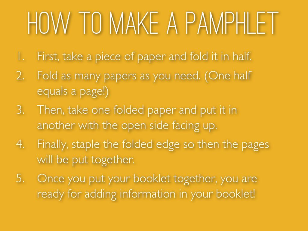 how to make pamphlets