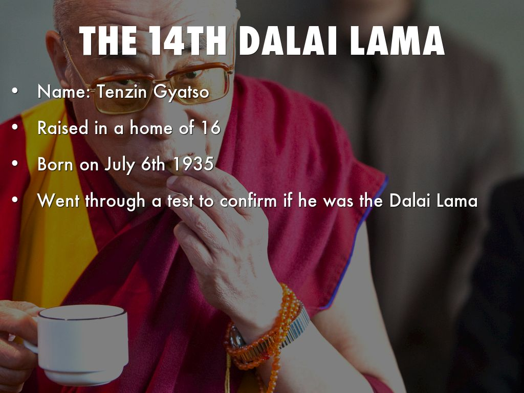 tenzin gyatso 14th dalai lama essay Spiritual leader of tibetans during the 1959 tibetan uprising, the dalai lama fled tibet for india, where he currently lives as a refugee he has since.
