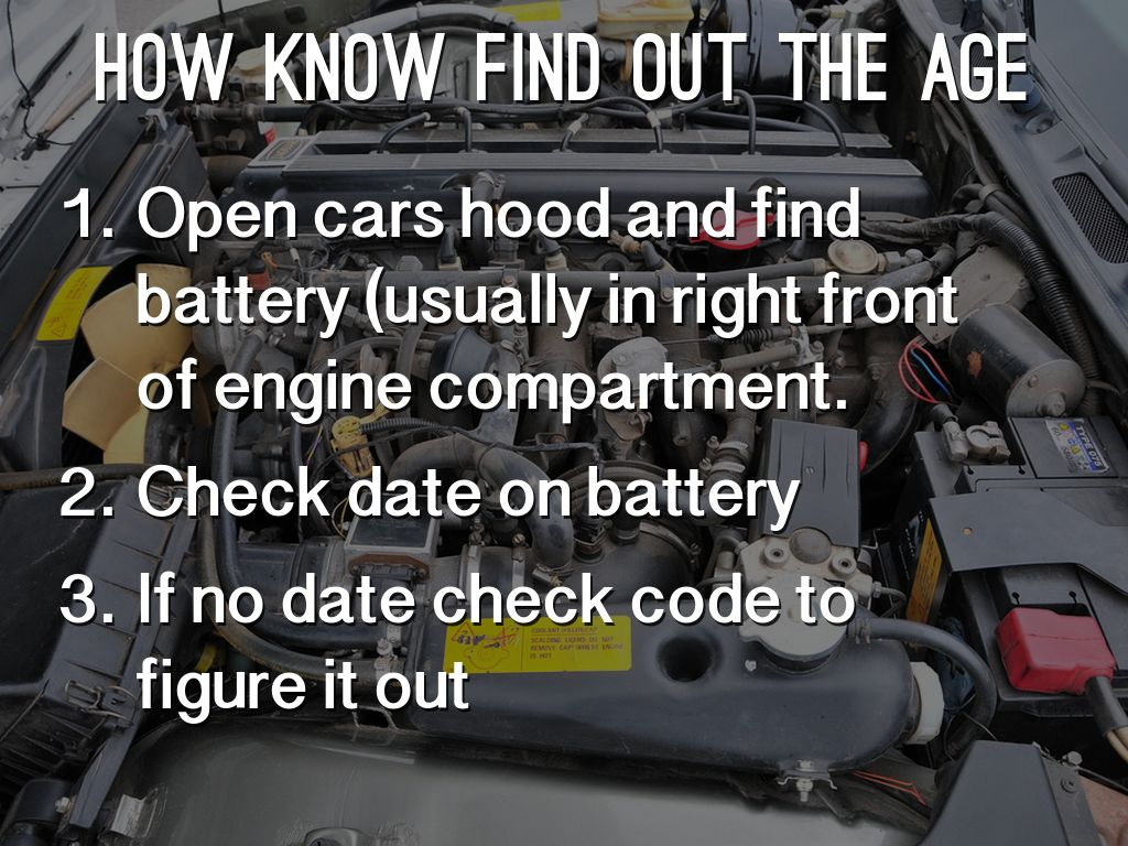 finding age of car battery