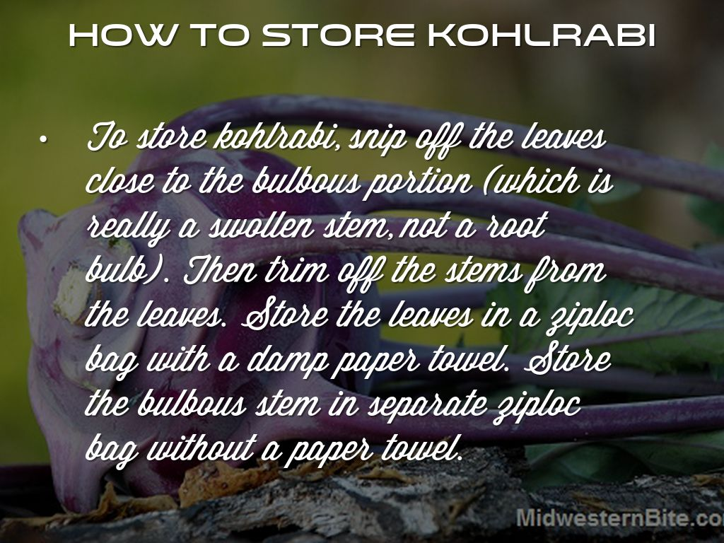 how to tell if kohlrabi is bad
