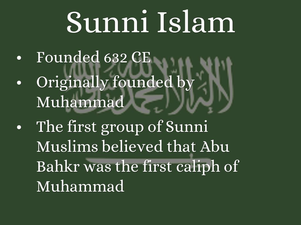 sunni muslim beliefs dating Who is who in the end times are orthodox christian sunni and shiite battle each other islam in it's important to know the beliefs of the different.