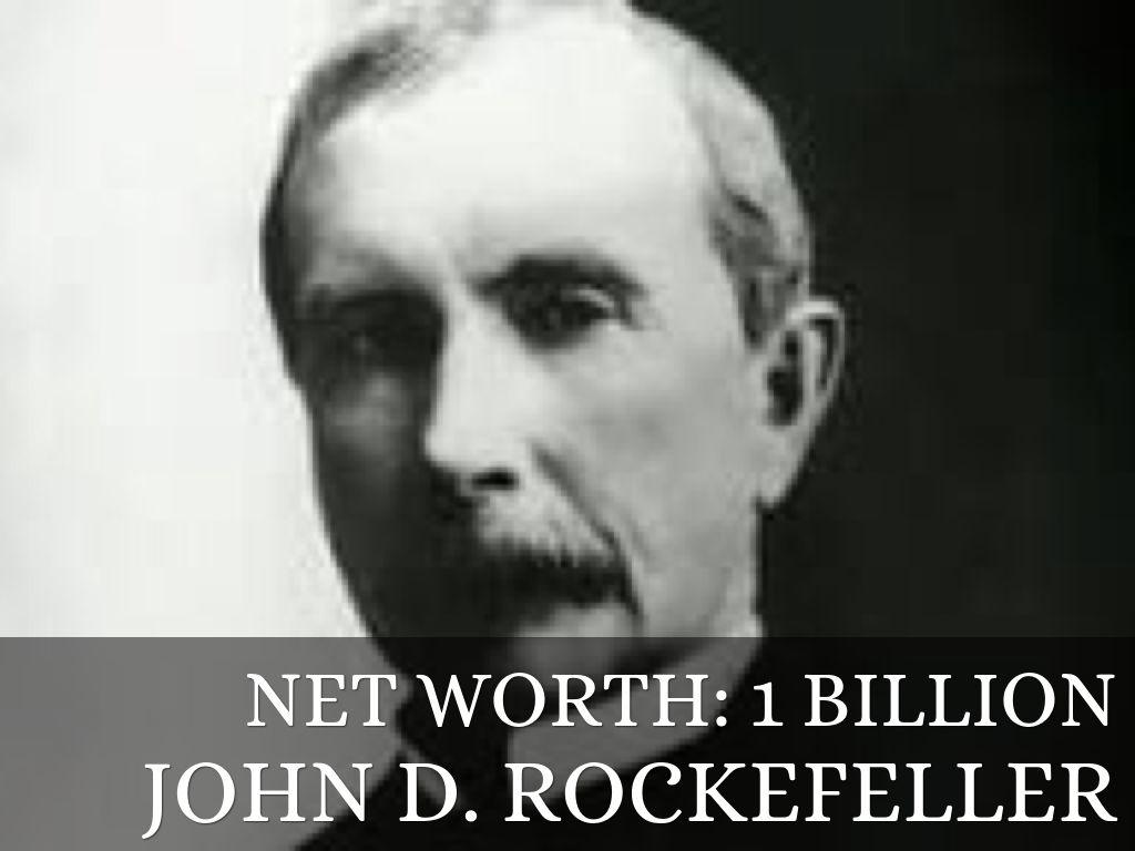 how much is john d rockefeller net worth