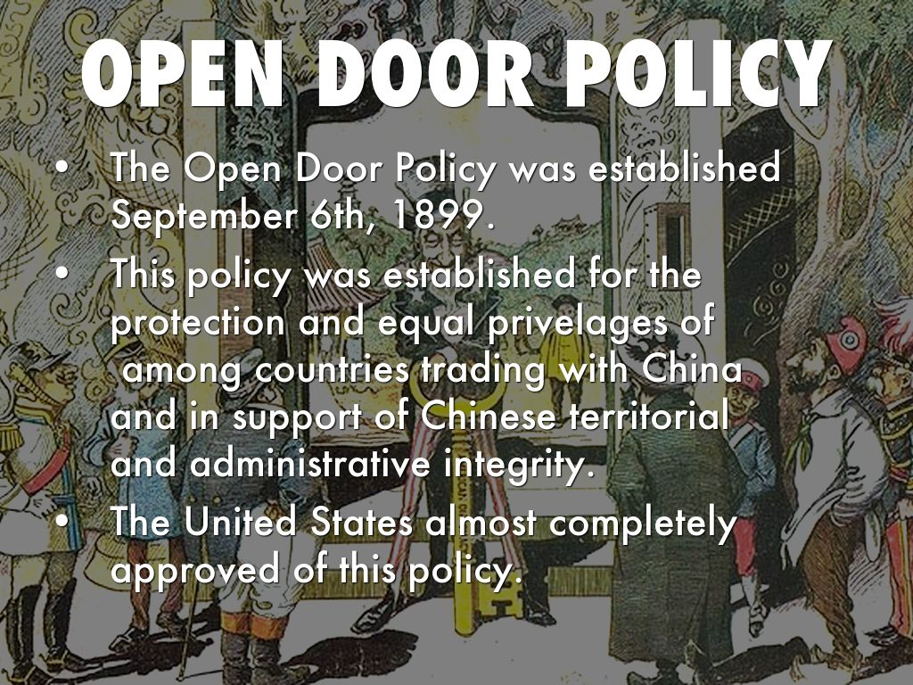 Open Door Policy 1899