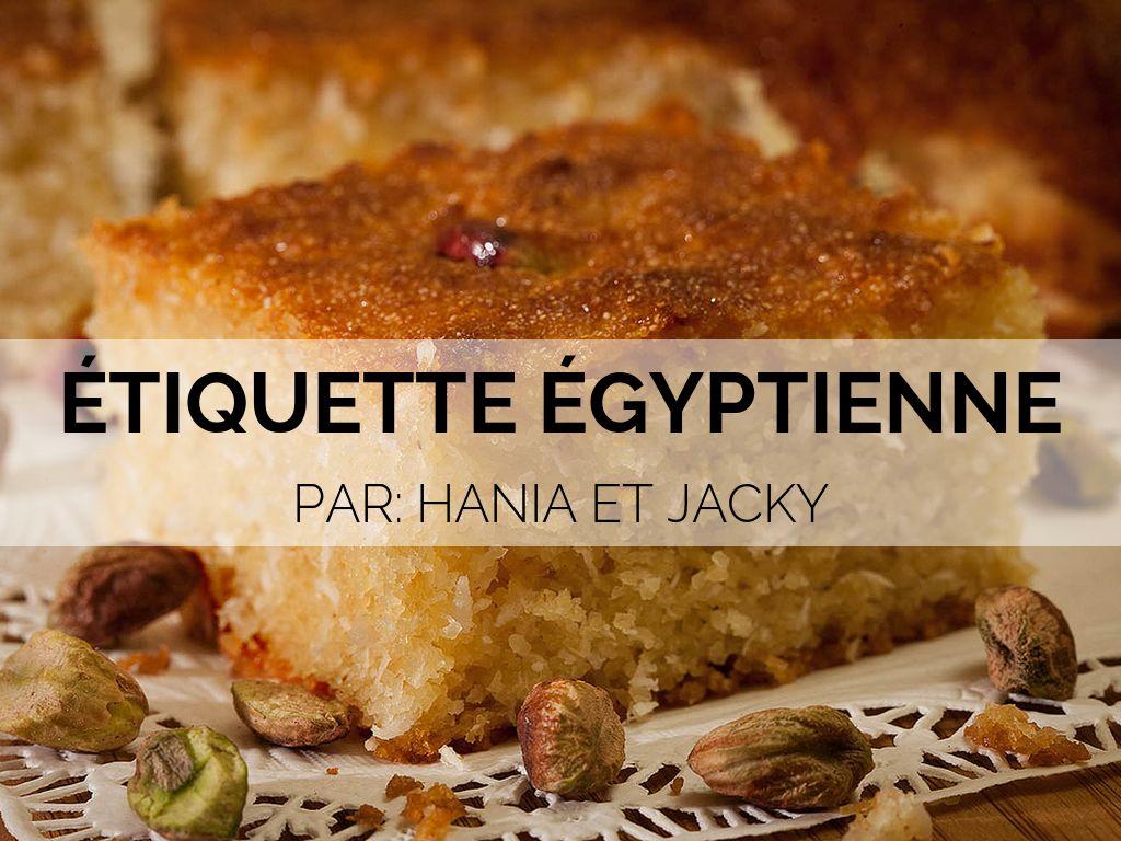 Étiquette Égyptienne
