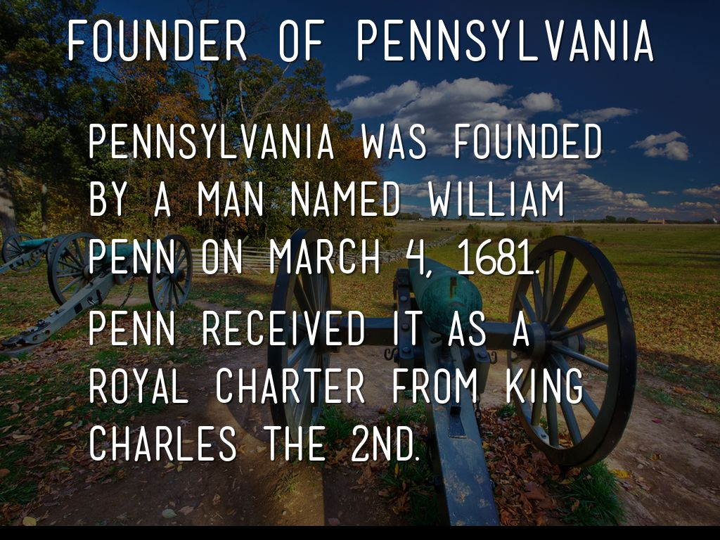 how pennsylvania was founded by william penn