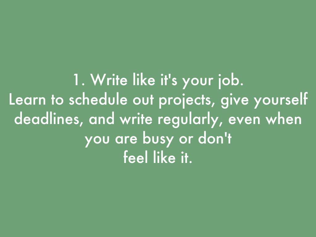 Graduate level writers