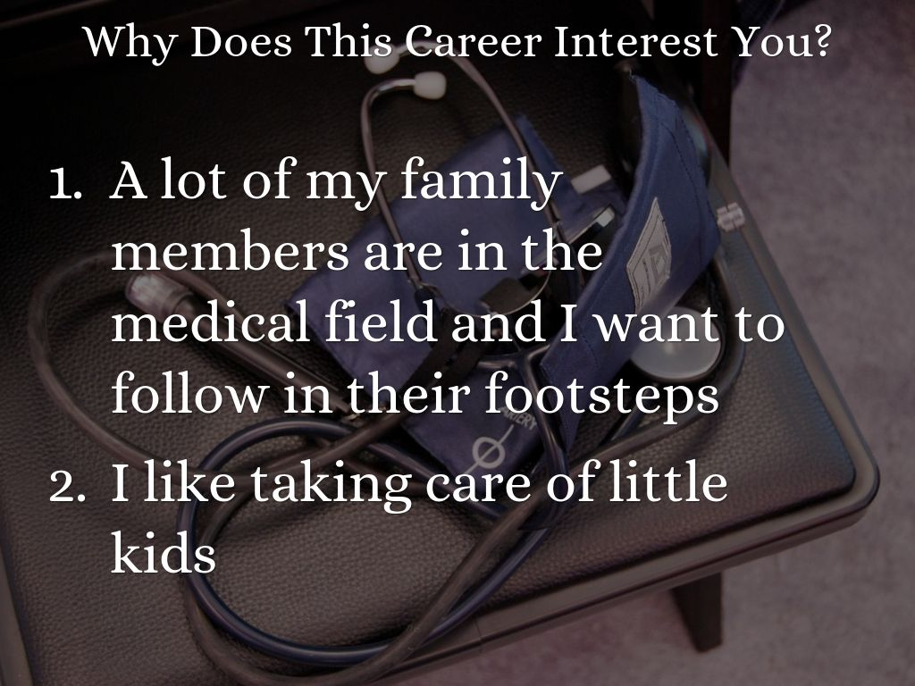 why i want to be a pediatrician