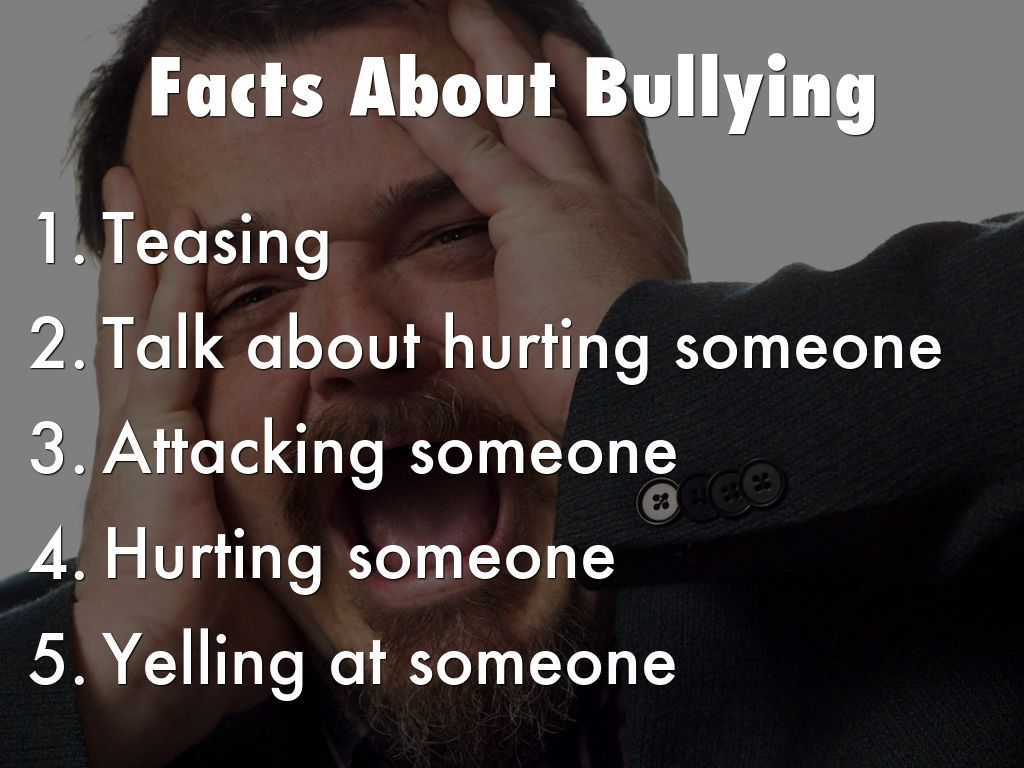 facts about bullying The statistics regarding bullying are astounding and kids with learning and attention issues may be especially at risk for bullying learn more.