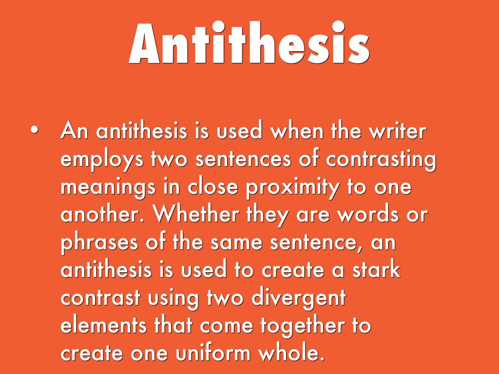 part of speech antithesis