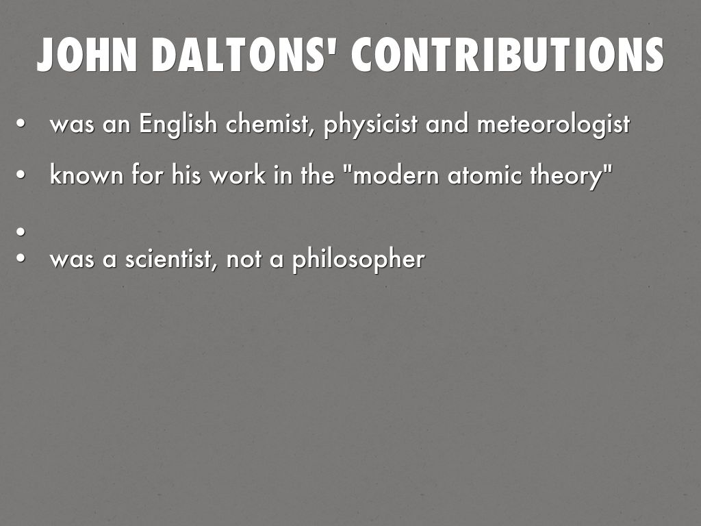 contributions to the atomic theory essay Modern atomic theory: models in 1897, jj thomson discovered the electron by  experimenting with a crookes, or cathode ray, tube he demonstrated that.
