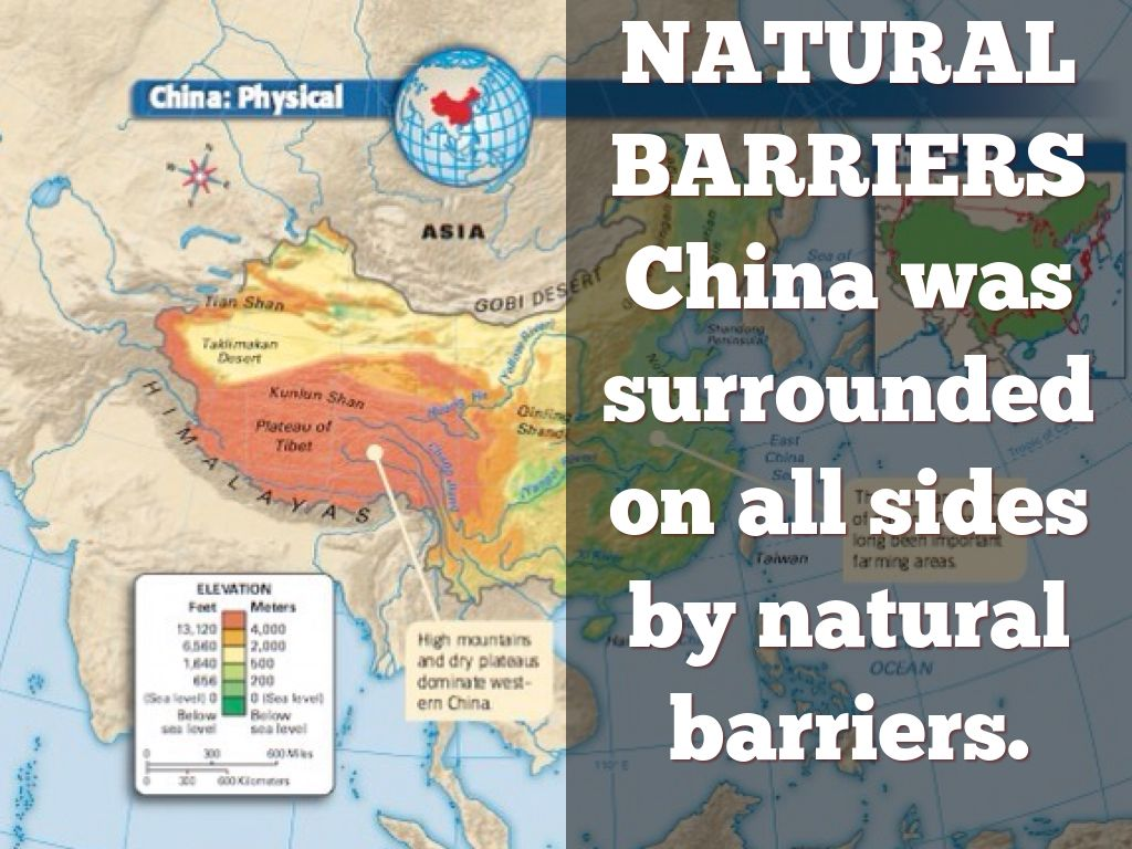 natural barriers of china
