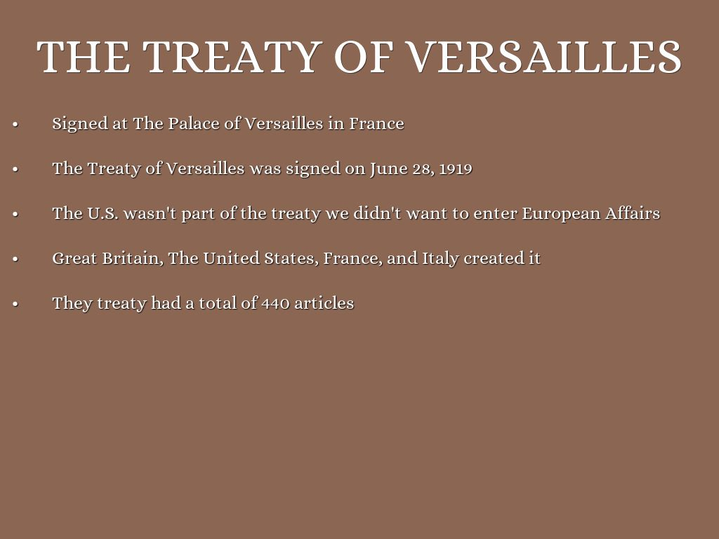 an analysis of the objectives and impact of the treaty of versailles The paris peace conference and the treaty of versailles the paris peace conference convened in january 1919 at versailles just outside paristhe conference was called to establish the terms of the peace after world war i.