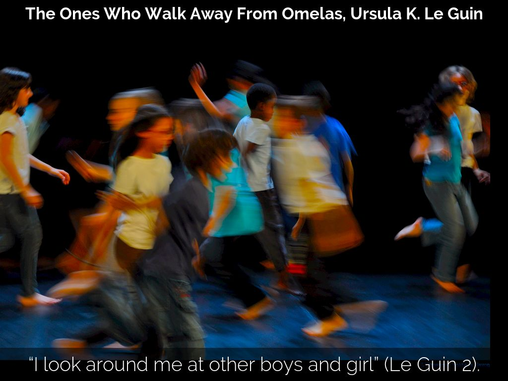 the ones who walk away from omelas by ursula le guin the contrast between kantian and utilitarian po