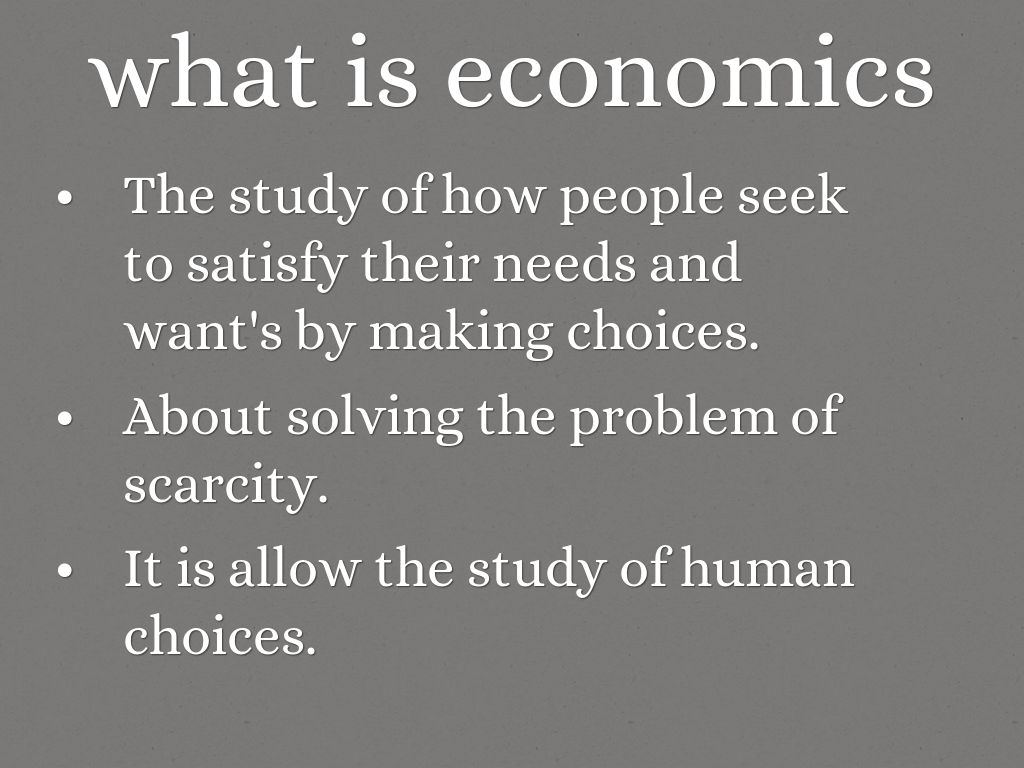 What is economics 68