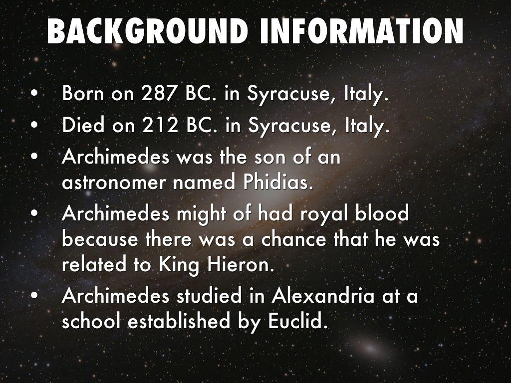 archimedes achievements in mathematics