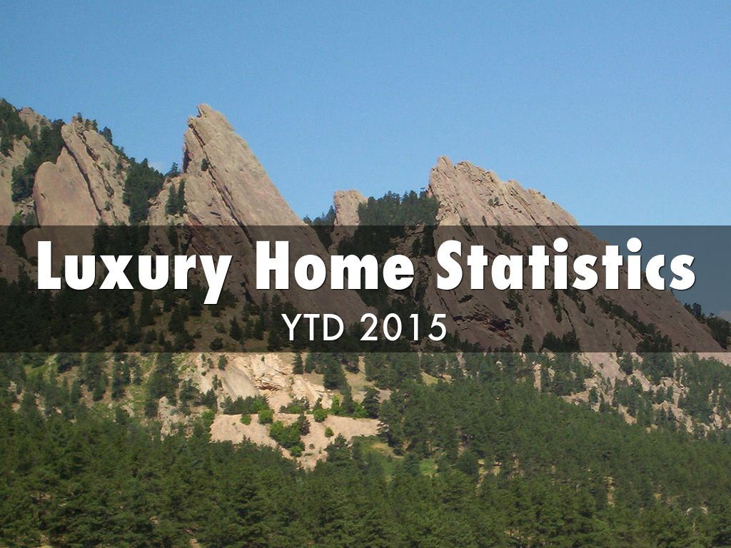 Luxury Home Statistics