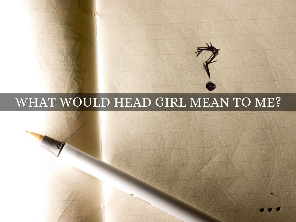 head girl speech