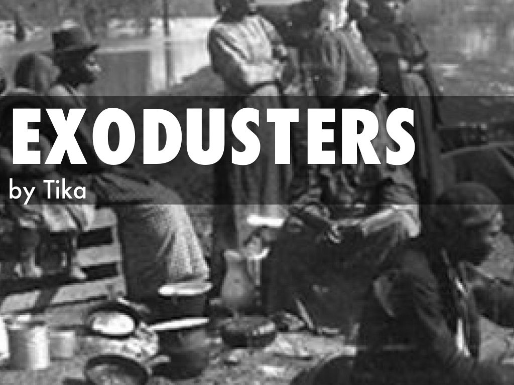 Exodusters by tika for Kansas homestead act