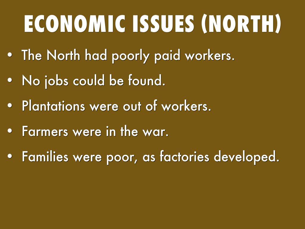 economic factors of the civil war