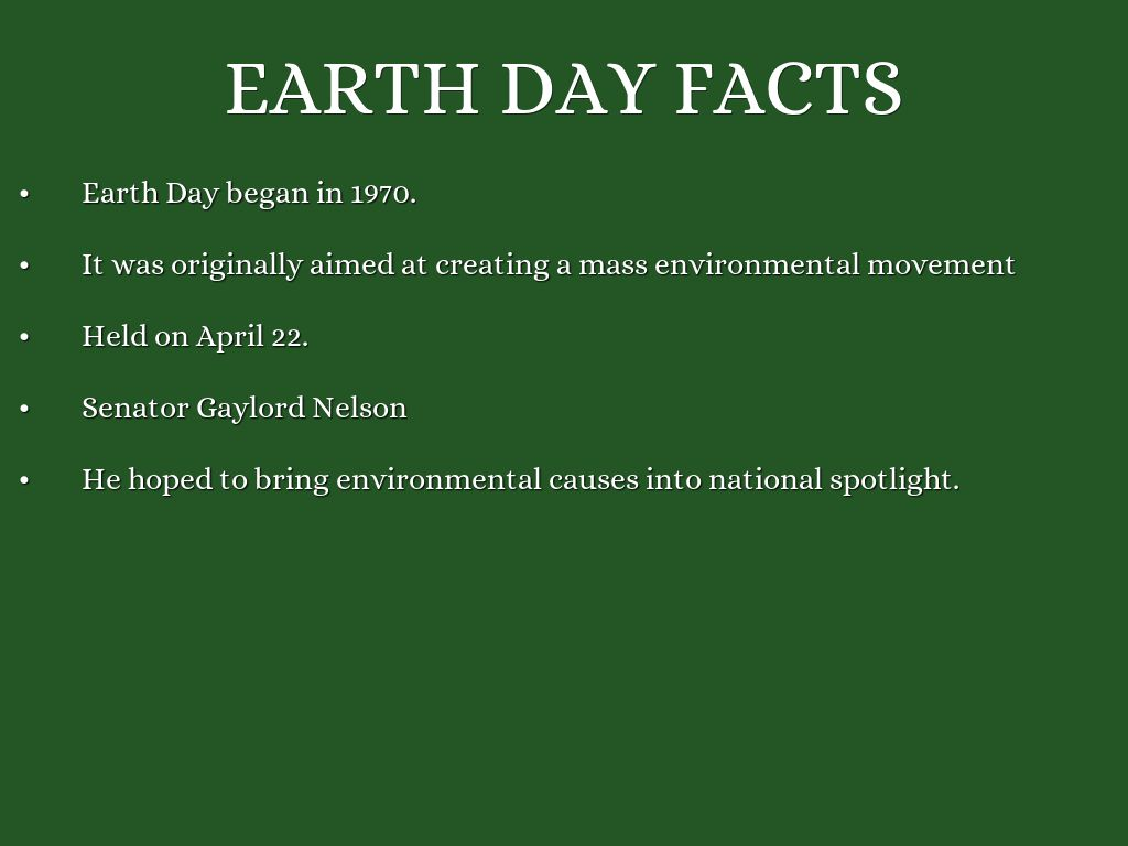 Earth Day History By Nicgiraff