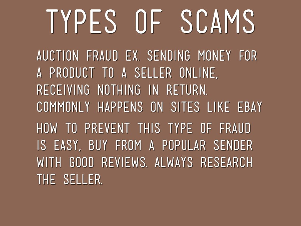 "types of online scams Types of online fraud this topic explains the following items: phishing vishing hijacking malware and botnets phishing ""phishing"" (pronounced ""fishing"") is when criminals use email to try to lure you to fake websites, where you are asked to disclose confidential, financial, or personal information like passwords, account numbers."