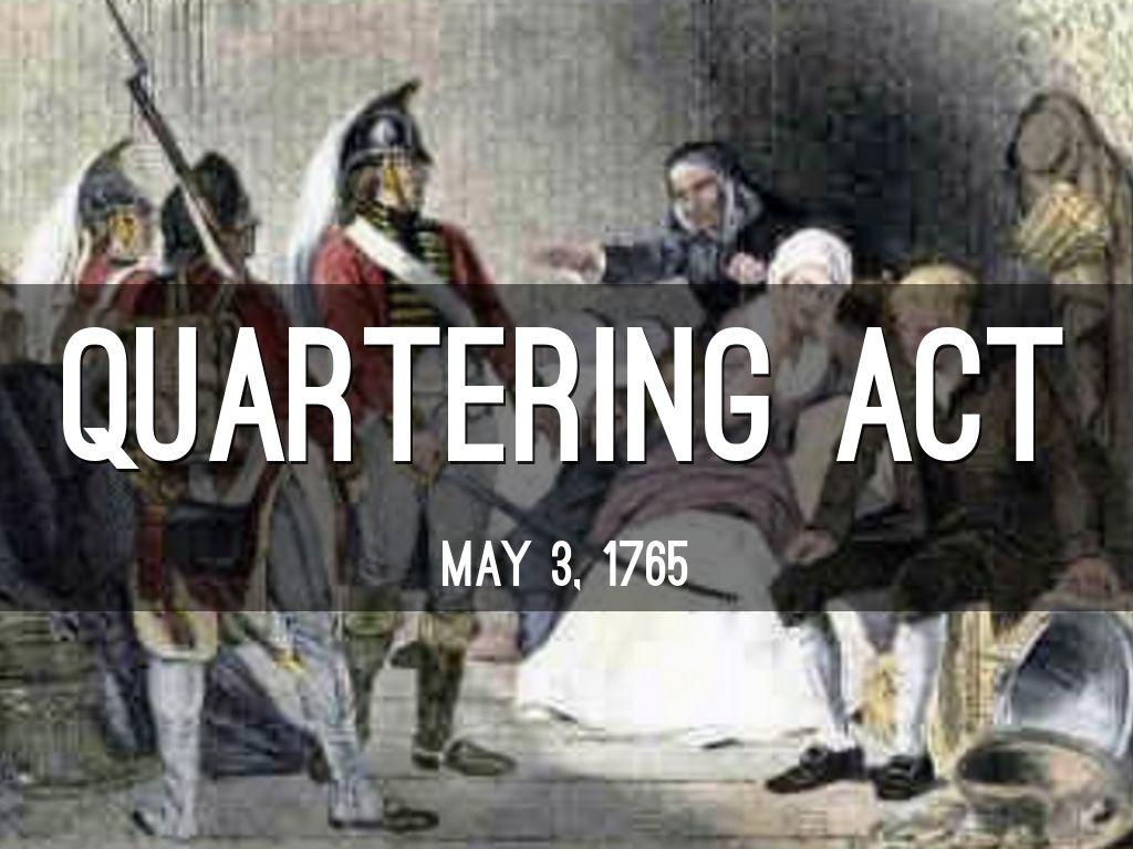 Quartering act date