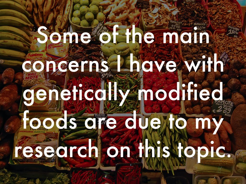 genetically modified food research topics