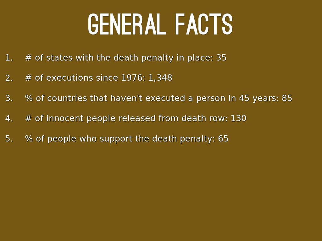 a personal recount on the death penalty