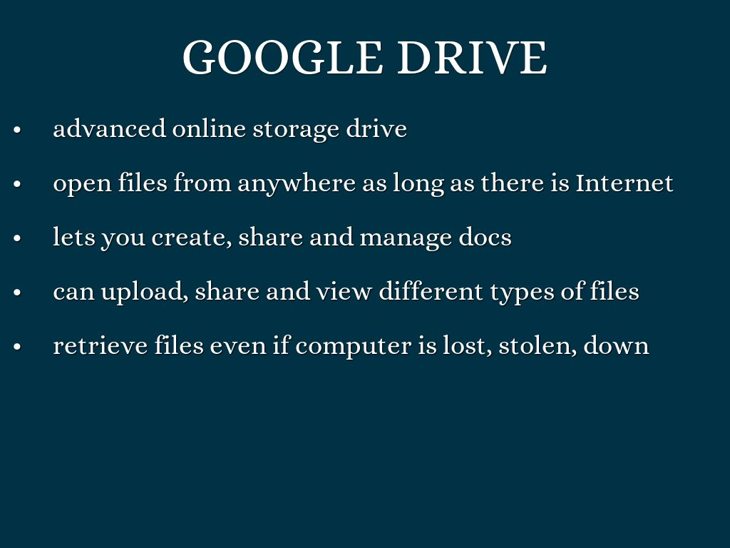 Google Drive Docs