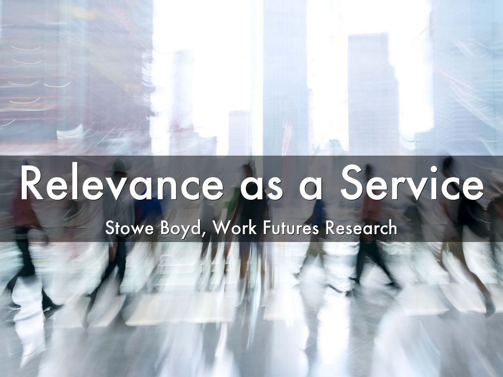 Relevance as a Service