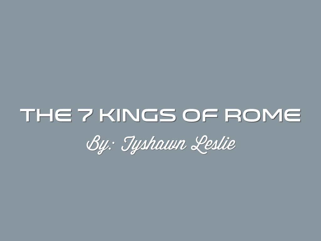 7 kings of rome Revelation 17 - prophecy of 7 kings identifies pope francis as  revelation 17: prophecy of the seven kings - 8th king identified  rome has frequently been .
