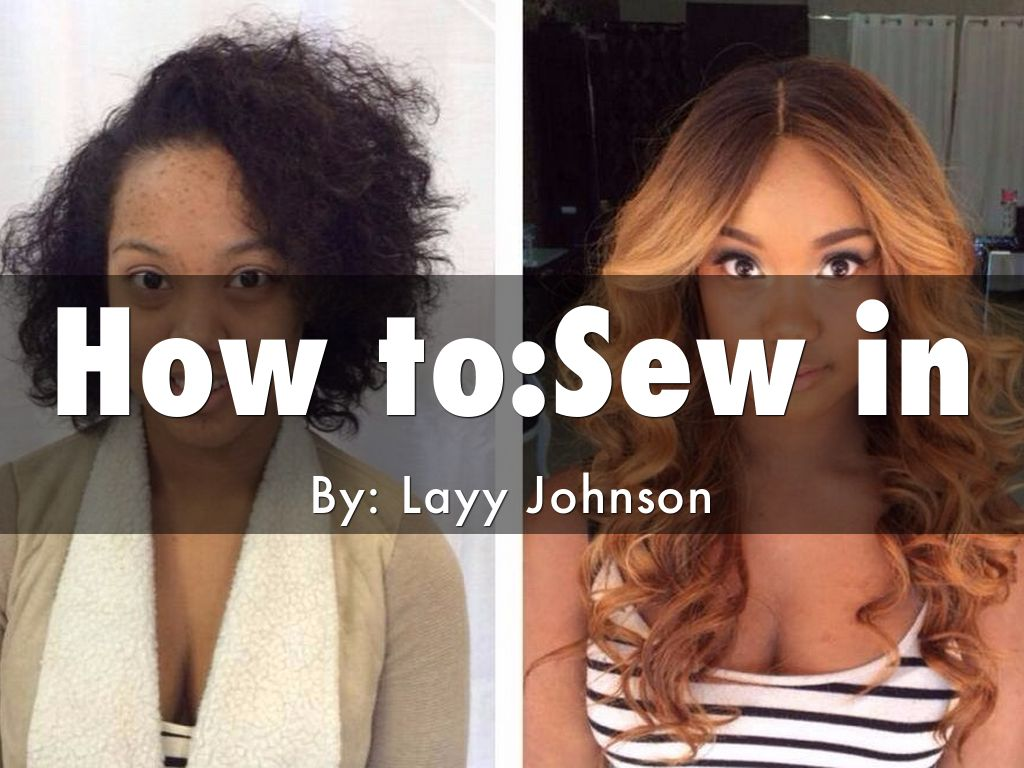 How to:Sew in
